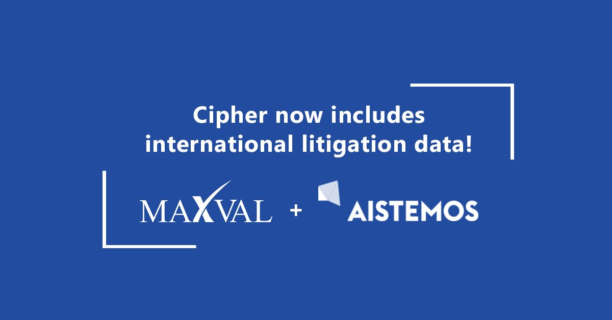 MaxVal and Aistemos Extend Litigation Data Partnership
