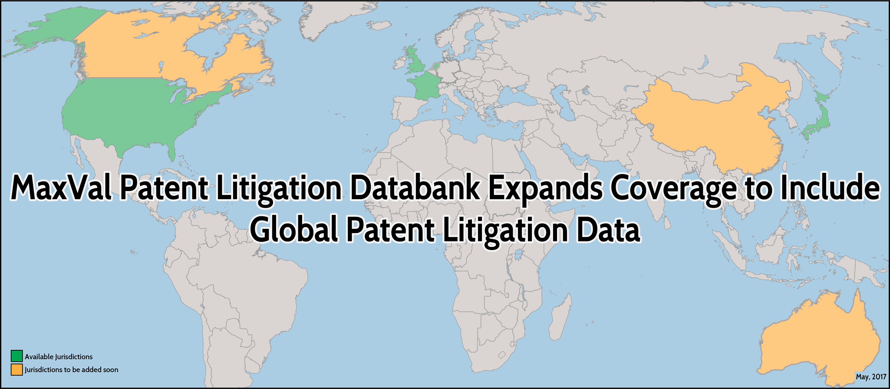 MaxVal Patent Litigation Databank expands coverage to include Global Patent Litigation Data