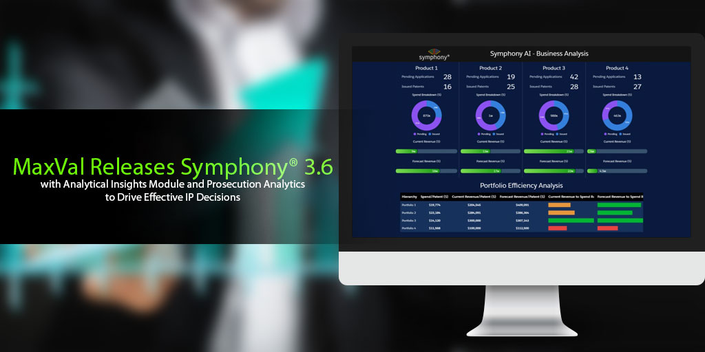 MaxVal Releases Symphony® 3.6 with Analytical Insights Module and Prosecution Analytics to Drive Effective IP Decisions